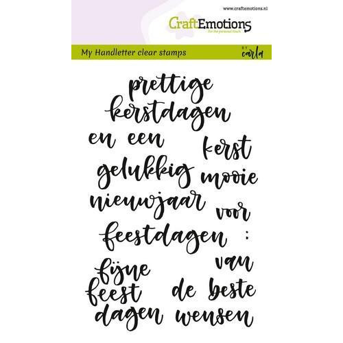 CraftEmotions clearstamps A6 - handletter - woorden kerst (NL) CK (7-18)