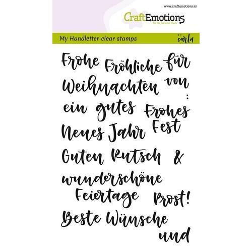 CraftEmotions clearstamps A6 - handletter - Wörter Weihn. kl (DE) CK (7-18)