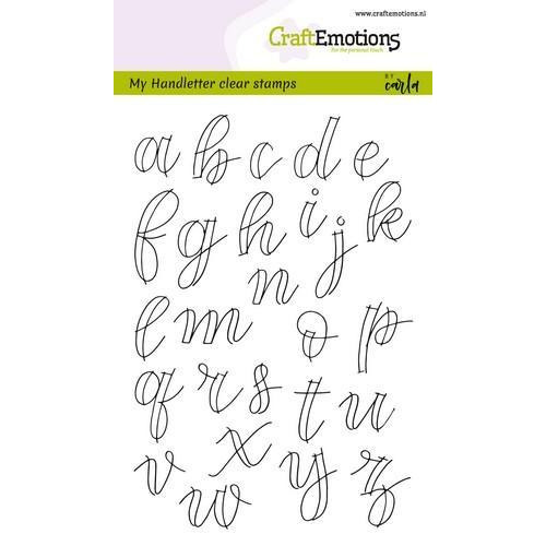 CraftEmotions clearstamps A6 - handletter - alfabet kl.letters (open) CK (7-18)