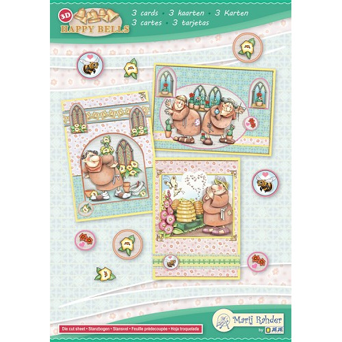 MRJ set Happy Bells A5 Set for 3 complete cards