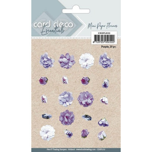 Card Deco Essentials - Mini Paper Flowers - Purple