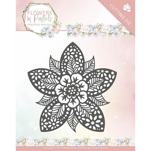 Dies - Precious Marieke - Flowers in Pastels - Reverse Flower