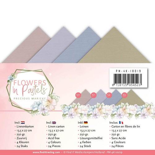 Linnenpakket - 4K - Precious Marieke - Flowers in Pastels