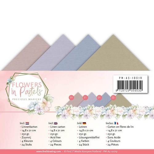 Linnenpakket - A5 - Precious Marieke - Flowers in Pastels