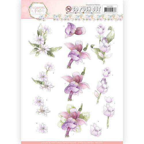 3D Pushout - Precious Marieke - Flowers in Pastels - Lilac Mist