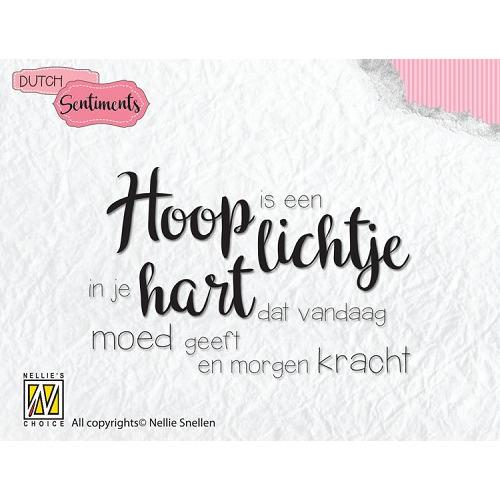"""Dutch sentiments-9 """"Hoop is een lichtje in je hart dat vandaag..."""""""