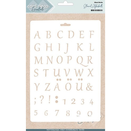 Card Deco Essentials - Stencil Alphabeth