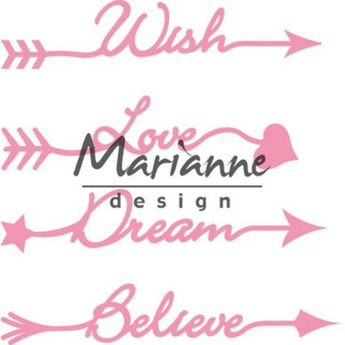 Marianne D Collectable Arrow sentiments COL1458 14x17cm (08-18)