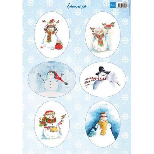 Marianne D 3D Knipvellen sneeuwpoppen ovaal VK9568 A4 (08-18)