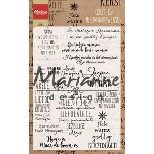 Marianne D Clear Stamp Kerst- en nieuwjaarswensen (NL) CS1008 11,5x18,5cm (08-18)