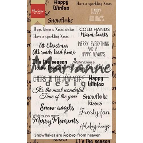 Marianne D Clear Stamp Happy Holidays (EN) CS1009 11,5x18,5cm (08-18)