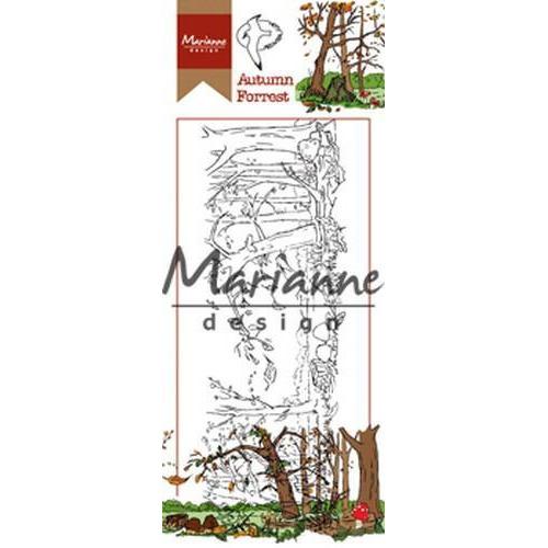 Marianne D Stempel Hetty's herfstbos HT1636 7,5x18,5cm (08-18)