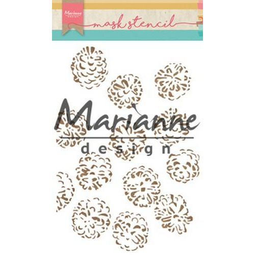 Marianne D Stencils Tiny's dennenappels PS8010 15x21cm (08-18)