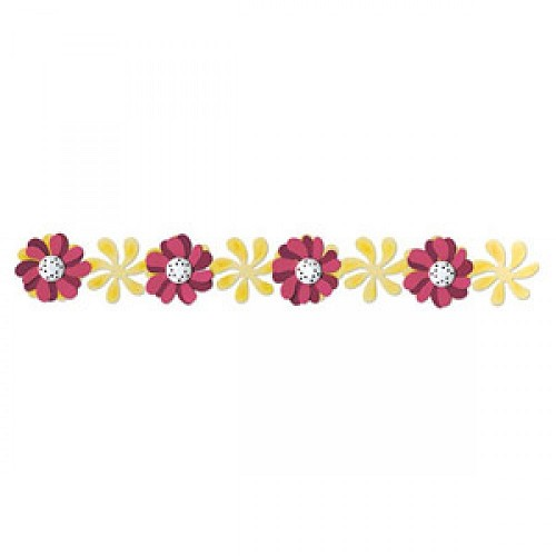sizzix decorative strips -windmill daisies