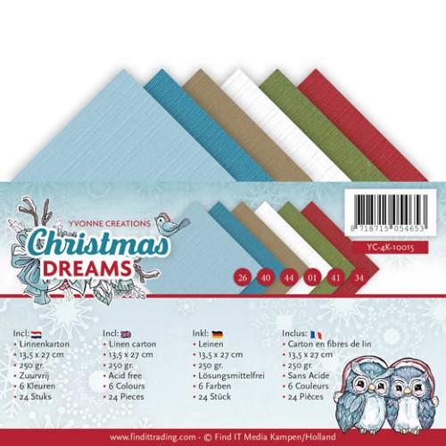 Linnenpakket - 4K - Yvonne Creations - Christmas Dreams