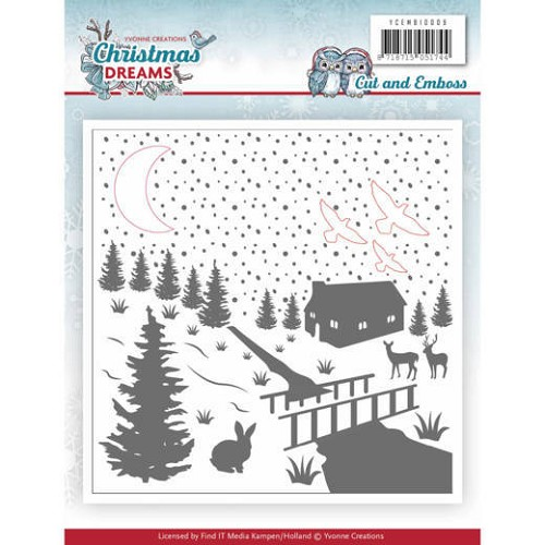 Embossing Folder - Yvonne Creations - Christmas Dreams