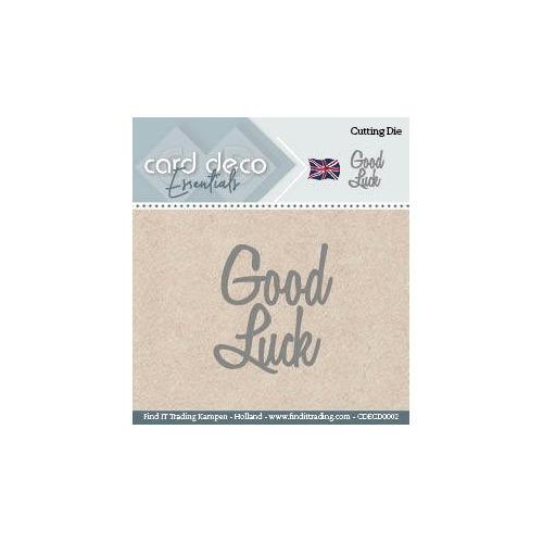 Card Deco Cutting Dies- Good Luck