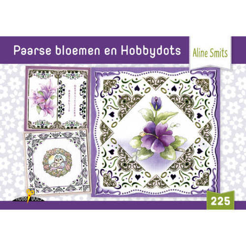 Hobbydols 225 - Paarse bloemen en Hobbydots