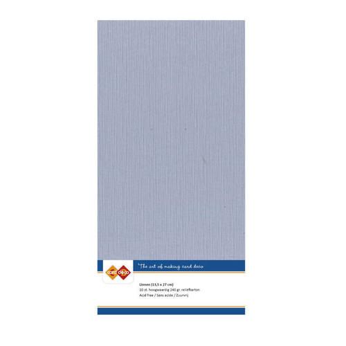 Linnenkarton - A5 - oudblauw