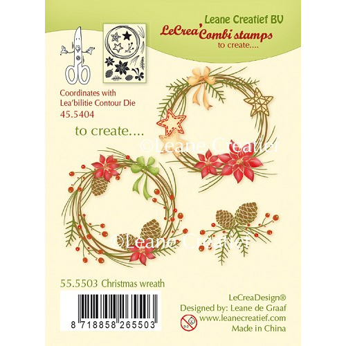 LeCreaDesign® combi clear stamp Christmas wreath