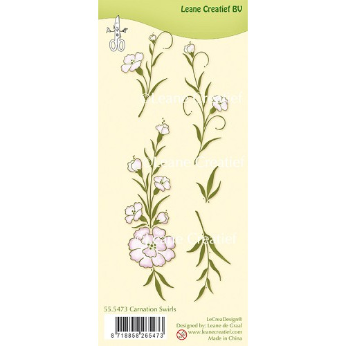 LeCreaDesign® clear stamp Carnation swirls