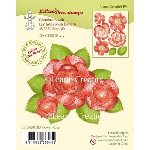 LeCreaDesign® clear stamp 3D Flower Rose (combineren mogelijk met Leabilitie die 45.5350)