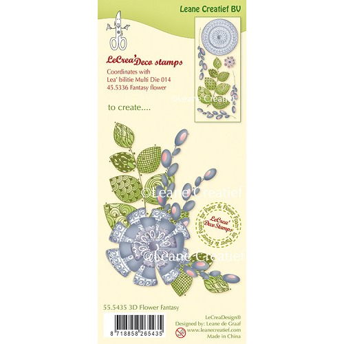 LeCreaDesign® clear stamp 3D Fantasy Flower (combineren mogelijk met Leabilitie die 45.5336)