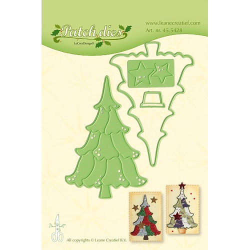 Leabilitie® Patch die Christmas tree snij en embossing mal