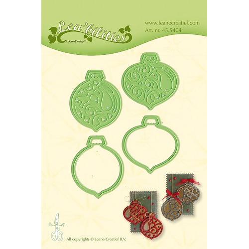 Leabilitie® Christmas ornaments snij en embossing mal