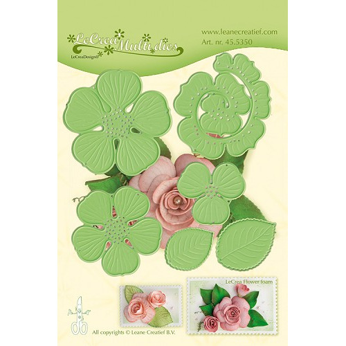 Leabilitie® Multi die flower 016 Rose 3D snij en embossing mal