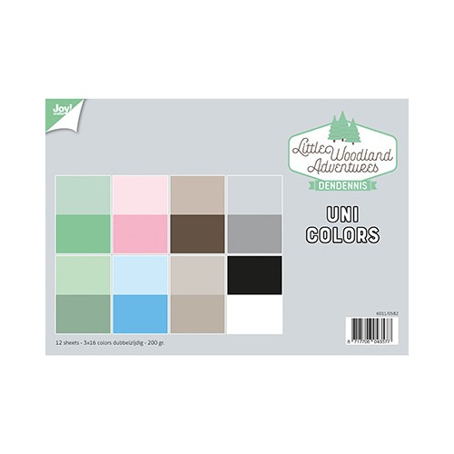 Papier Set A4 Papierset - LWA - Uni Colors
