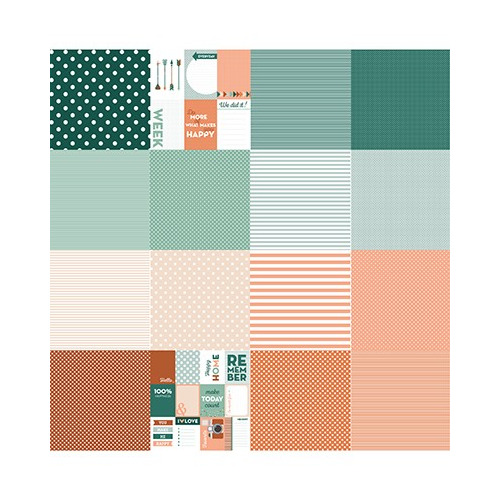 Scrap Design Paper Designpapier - Noor - Dots&Stripes