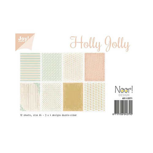 Papier Set A4 Papierset - Holly Jolly