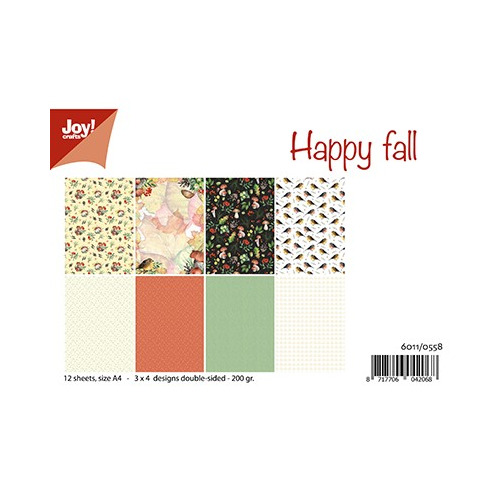 Papier Set A4 Papierset - Happy Fall/Mushroom Autumn