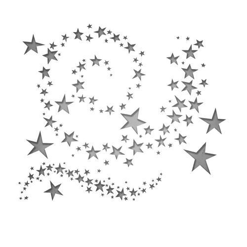 Sizzix Thinlits Die set - Swirling Stars - 9PK 663095 Tim Holtz (08-18)