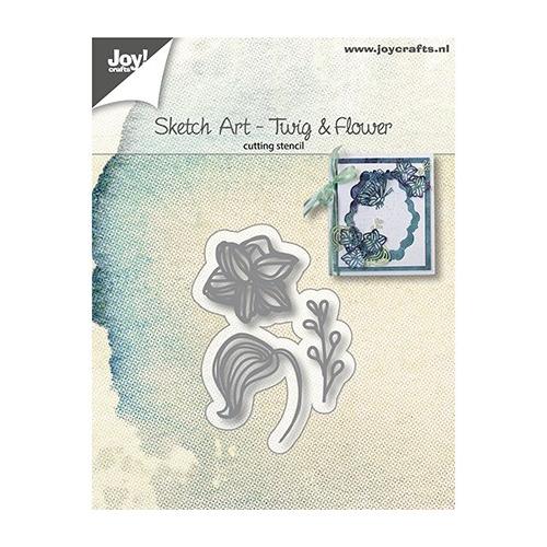Snijstencils - Sketch Art - Bloem blad tak