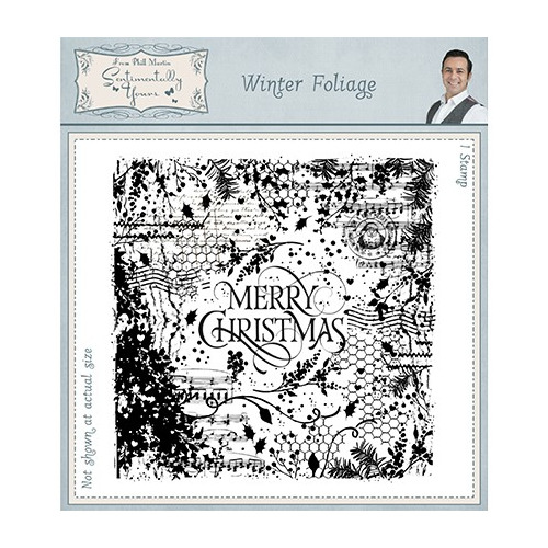 Sentimentally Yours Stamp Pre Cut Rubber Winter Foliage