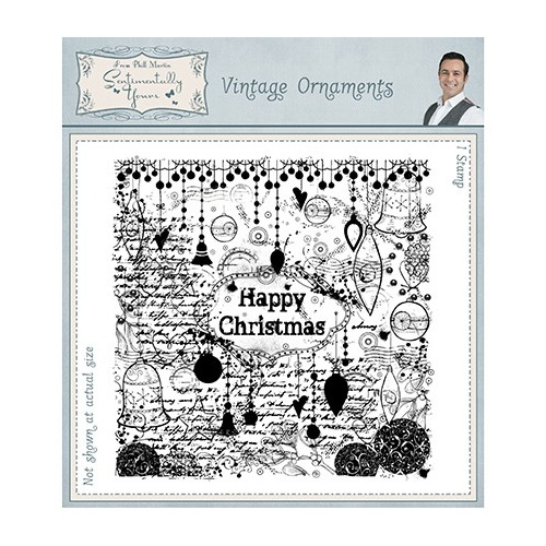Sentimentally Yours Stamp Pre Cut Rubber Stamp Vintage Ornaments
