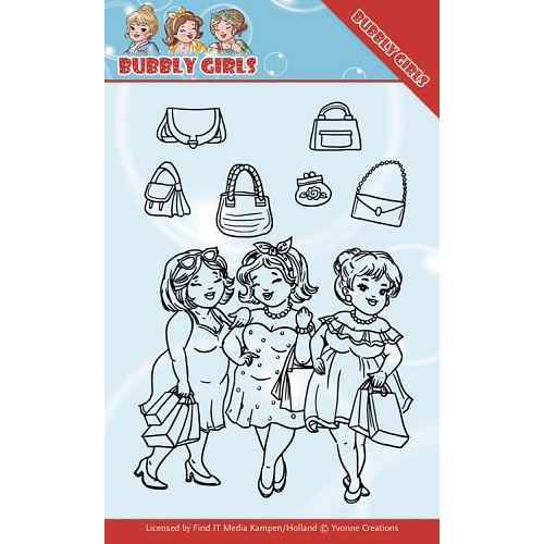 Clear Stamps - Yvonne Creations - Bubbly Girls - Gone Shopping