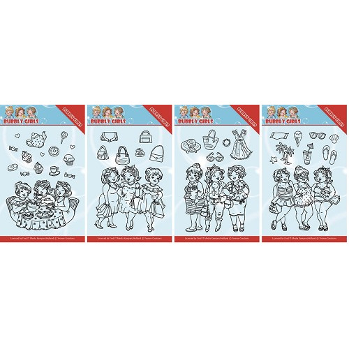 Bubbly Girls stempel set