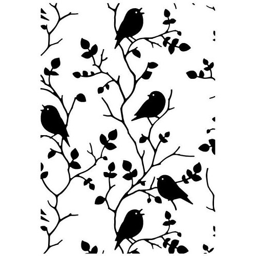 "Embossing Folder ""Tree with birds"""