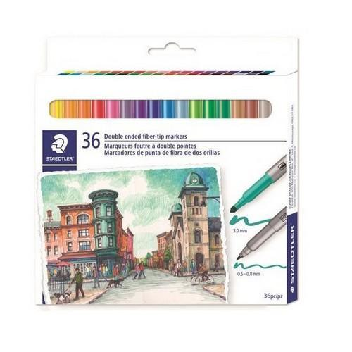 Staedtler handwriting pen dubbele punt - set 36 st 3200 C36 (08-18)