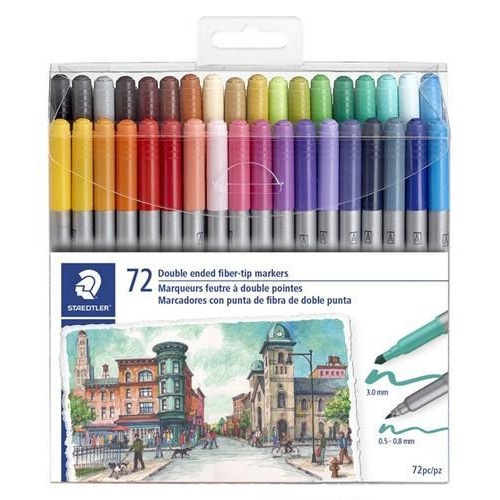Staedtler handwriting pen dubbele punt - set 72 st 3200 TB72 (08-18)