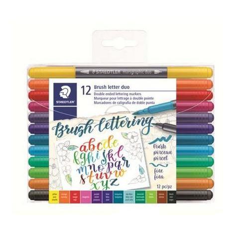 Staedtler Brush letter duo penseel lettering pen - 12  st 3004 TB12 (08-18)