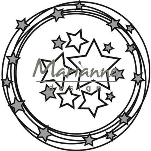 Marianne D Craftable Cirkel & Sterren CR1447 8 x 16 cm  (09-18)