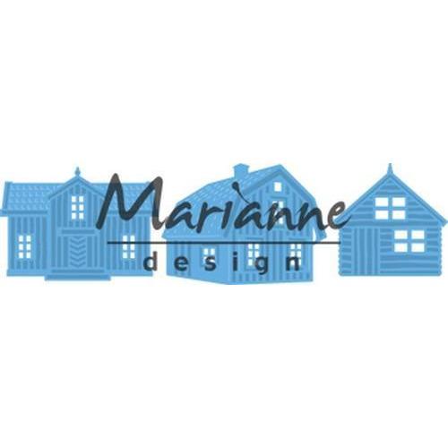 Marianne D Creatable Scandinavische huizen LR0555 8 x 18 cm (09-18)