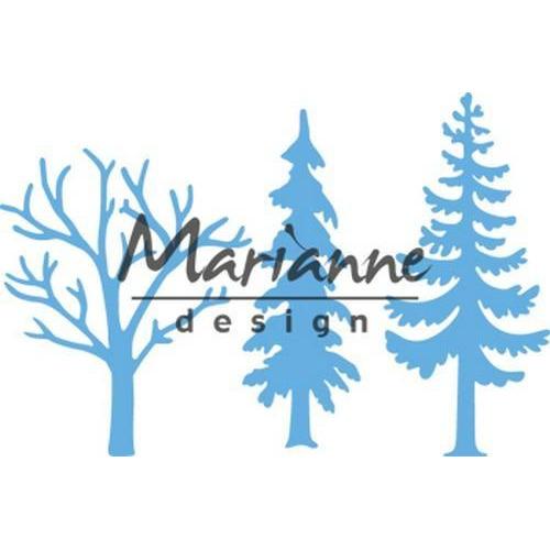 Marianne D Creatable Bos met bomen LR0556 8 x 18 cm (09-18)