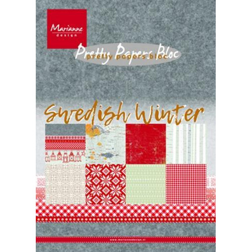 Marianne D Paper pad Swedish winter A5 PK9159 15 x 21 cm (09-18)