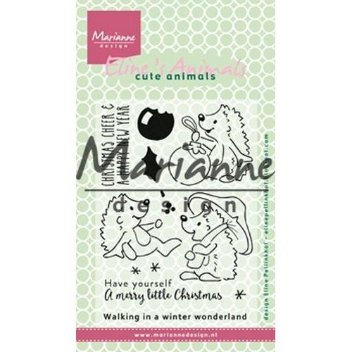Marianne D Clear Stamp Eline`s Kerst Egels EC0173 10,5 x 18 cm (09-18)