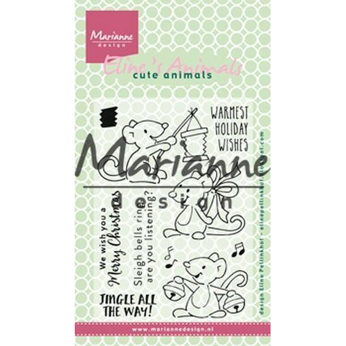 Marianne D Clear stamp Eline`s Kerst Muizen EC0174 10,5 x 18 cm (09-18)